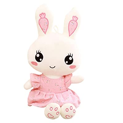 PLAYFUN 1Pc Cute Rabbit Wear Cloth with Dress Plush Toy Stuffed Soft Animal Dolls Ballet Rabbit for Baby Kids Birthday Gift,Green,60cm: Home & Kitchen
