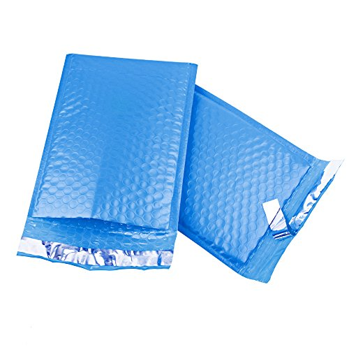 FU GLOBAL #0 Poly Bubble Mailers 6x10 Inch Bubble Envelopes Blue Bubble Lined Poly Mailer 25pcs