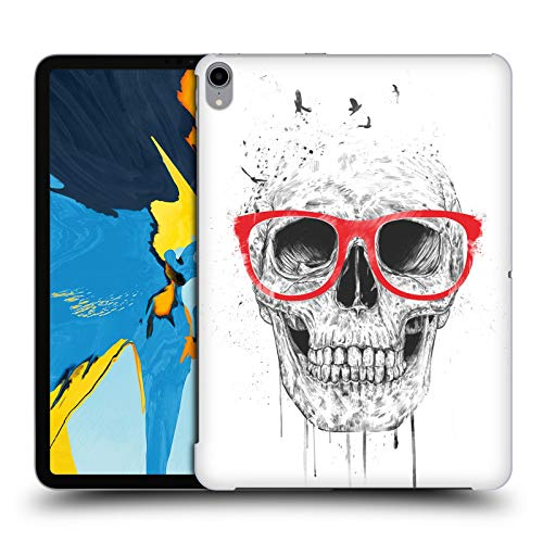 Official Balázs Solti Red Glasses Skulls Hard Back Case Compatible for iPad Pro 11 (2018) from Head Case Designs