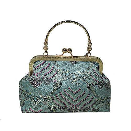 Style Style Green Mesdames Sac Sacoche Silk Handmade Chinois National YOFO EcWnvY6qYz