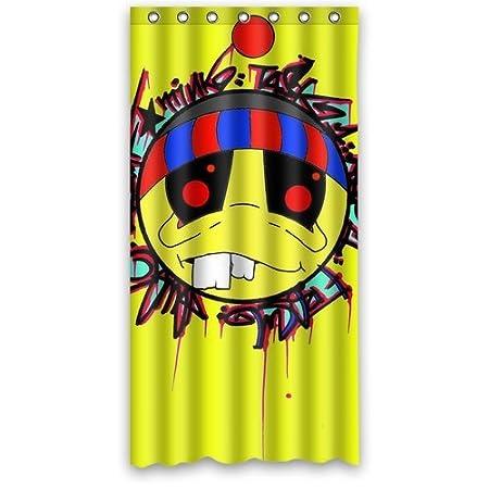 Generic Brauch Pac Man Is Browser Yellow Graffiti Waterproof Bathroom Shower Curtain Polyester Fabric 90 X