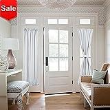 curtain panels for doors - NICETOWN French Door Curtains - Room Darkening Patio Door Thermal Curtain Panels, Side Lights Door Panels 25