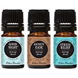 Edens Garden Value Pack Good Night, Anxiety Ease, Stress Relief 100% Pure Therapeutic Grade Essential Oils