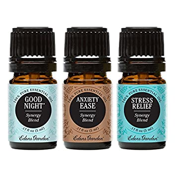 Superior Edens Garden 5ml Value Pack Good Night, Anxiety Ease, Stress Relief 100%  Pure