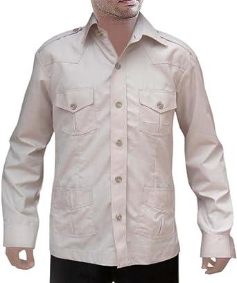 INMONARCH – Safari de Caza Hombre Luz Khakhi algodón Bush de ...
