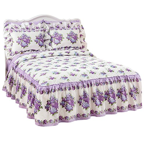 Beauty Ruffle Quilt Top Lightweight Bedspread