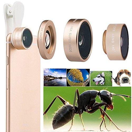 Universal Mobile Phone lens 3 in 1 Phone Lens (GOlden) - 9