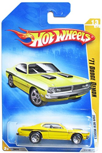 (HOT WHEELS 2009 NEW MODELS 13/42 '71 DODGE DEMON YELLOW WITH BLACK STRIPES 013/190)