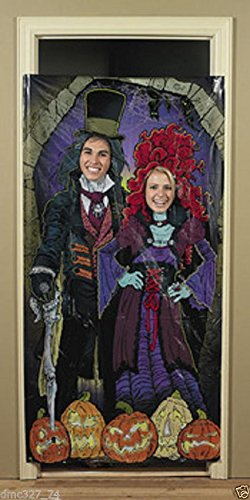 [HALLOWEEN Party Prop HAUNTED MANSION House PHOTO Photograph Door Banner] (Ideas For Halloween Costumes 2016 Couples)
