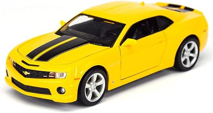 Color : Yellow YSDHE Modelo de Coche Coche 1:18 Camaro Bumblebee Simulaci/ón de aleaci/ón de fundici/ón de Juguetes Adornos colecci/ón de Coches Deportivos joyer/ía 26x10.5x7.5 CM
