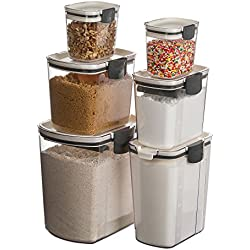 Prepworks by Progressive 6-Piece ProKeeper Set, Includes 1 of Each - Flour, Granulated Sugar, Brown Sugar, Powdered Sugar Keepers and 2 Mini Keepers, Food Storage Containers