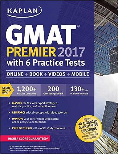 Kaplan GMAT Premier 2017 with 6 Practice Tests