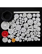 81 PCs Plastic Gear Kit | Pulley Belt Worm Kits | Crown Gear | Gear Set for Robot Motor Car Toy DIY
