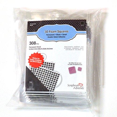 Scrapbook Embellishments Free - SCRAPBOOK ADHESIVES BY 3L 3L Scrapbook Adhesive Permanent Small Pre-Cut 3D Foam Squares, x 1/4-Inch, 308pk, Black-Set of 10, 1/4