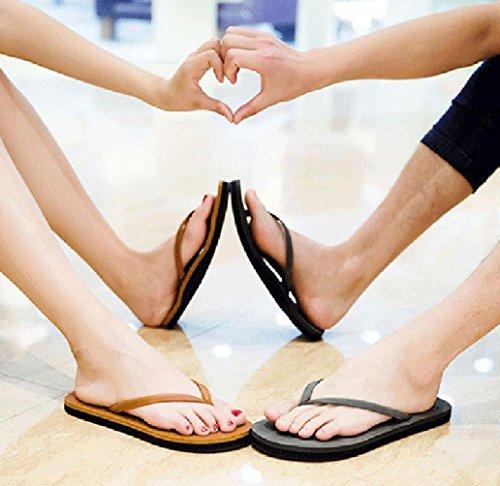 Infradito SOMESUN Sandali da Pelle Spiaggia Sandali da Estate Leggero Unisex in Uomo da Donna Marrone Tempo Traspirante Pantofole Sintetica per Il Pantofole Massaggio Morbido Scarpe Libero awwdqxAr