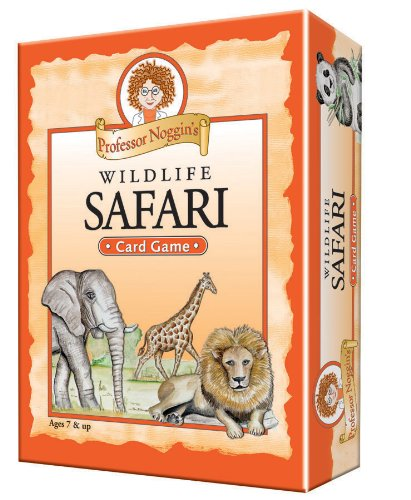 Professor Noggin's Wildlife Safari - A Educational Trivia Based Card Game For Kids - Ages 7+