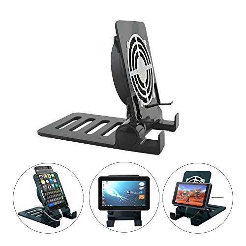 Stand for Nintendo Switch and Tablets Spater Home or Office Cell Phone Holder Dock for iPhone iPad Series Samsung Galaxy Tabs Google Nexus LG Kindle Fire and more Black