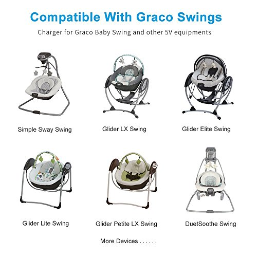 BSSPOWER AC to DC Adapter Power Cord for Graco Simple Sway , Graco Glider, DuetSoothe, DuetConnect LX Baby Swing by BSSPOWER (Image #3)