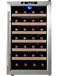 Firebird New Thermoelectric Quiet Operation Wine Cooler Cellar Chiller Refrigerator (28 bottles)