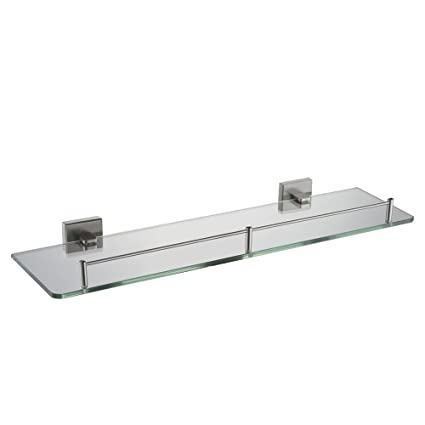 Bathroom Glass Shelf With Rail 197 Angle Simple Sus304 Stainless