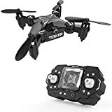 #6: TENKER Skyracer Mini RC Helicopter Drone for kids Quadcopte with Altitude Hold 3D Flips and Headless Mode One key take off/landing good choice for Beginners