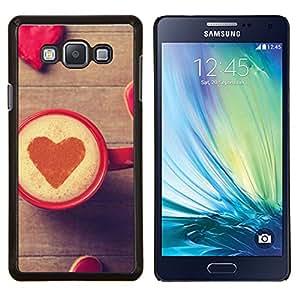 EJOOY---Cubierta de la caja de protección para la piel dura ** Samsung Galaxy A7 A7000 ** --Corazón del amor del café