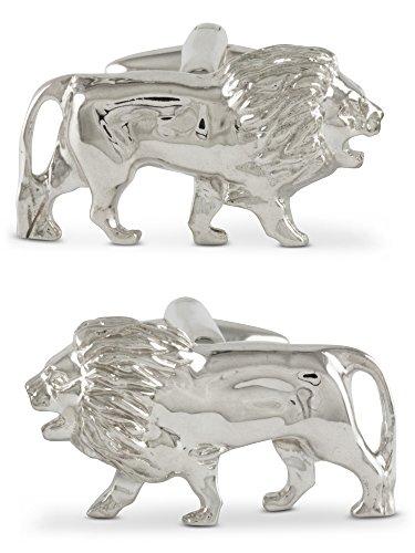 ZAUNICK Crouching Lion Cufflinks Sterling Silver by ZAUNICK