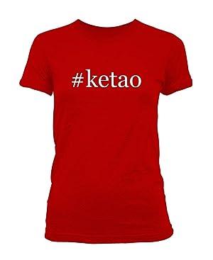 #ketao - Hashtag Ladies' Junior's Cut T-Shirt, Red, Small