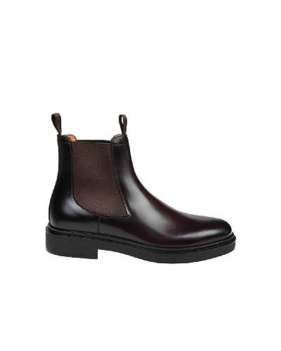 9731dcdd4452 Amazon.com   Santoni Men s Mgwb10027nerifkpb50 Brown Leather Ankle ...