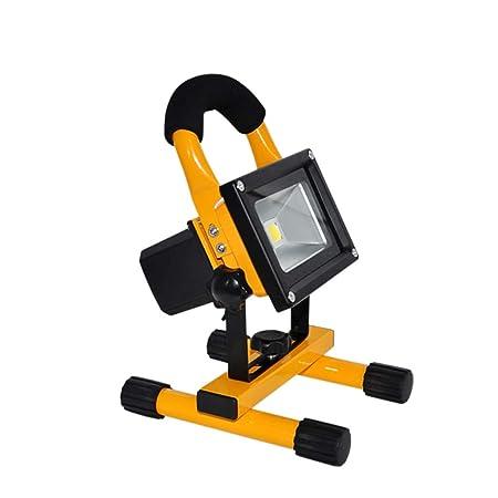 H-XH Foco Proyector portátil, luz de Trabajo LED Recargable IP65 ...