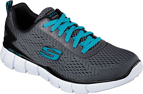 Skechers Sport Men's Equalizer 2.0 On Track Lace Up Sneaker, Mesh Charcoal/Black, 12 M US