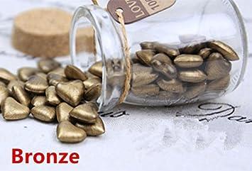 mdlg 90pcs bronce forma de corazón cristal embotellada para sellado con cera Sello Vintage invitaciones de