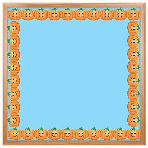 Hygloss Products Happy Pumpkins Die-Cut Bulletin Board Border - Classroom Decoration - 3 x 36 Inch, 12 -