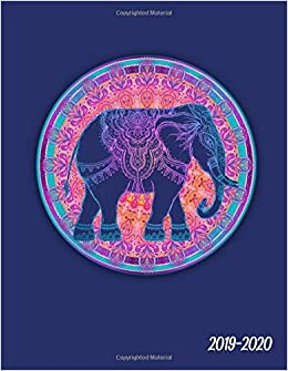 Amazon.com: 2019-2020: Nifty Mandala Blue Elephant Daily ...