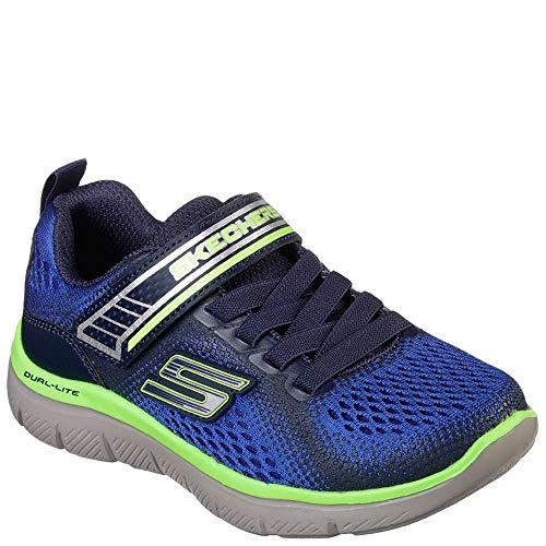 Skechers Kids Boys' Flex Advantage 2.0-GEO Blast Sneaker, Blue/Navy, 1.5 Medium US Little Kid