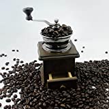 QOJA retro wooden coffee bean hand grinder family mini flour mill
