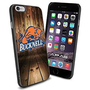 Bucknell Bison NCAA Silicone Skin Case Rubber Iphone 6 Case Cover Black color