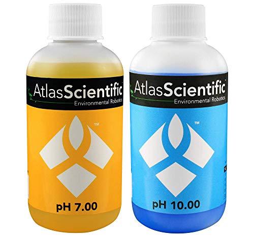 (Atlas Scientific pH 7.00 & 10.00 Calibration Solution 125ml - 4oz (Pack of 2))