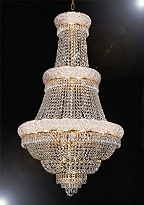 "French Empire Crystal Chandelier Lighting H50"" X W30"""