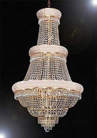 French empire crystal chandelier lighting h50 x w30 good for foyer entryway