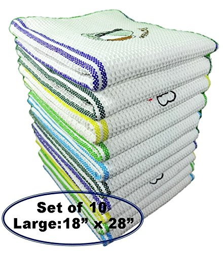 QuattroLink Premium Quality 100% Cotton Dish Kitchen Towels