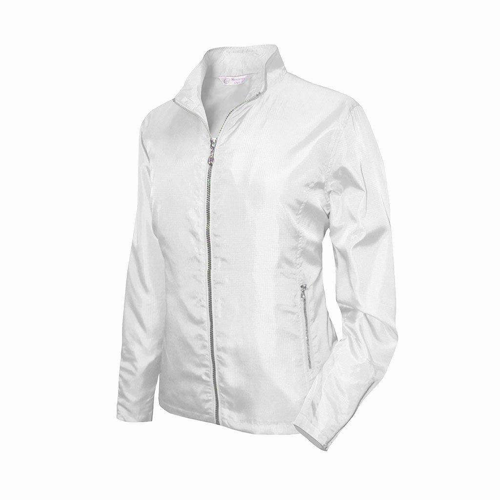 Monterey Clubレディース軽量ミニ格子柄ジップアップジャケット# 2792 B01BPVEJDG 3L ホワイト ホワイト 3L
