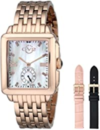 Women's 9202 Bari Diamond-Accented Rose Gold-Tone Watch with Interchangeable Bands