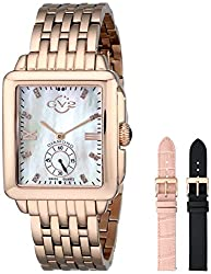 GV2 by Gevril Women's 9202 Bari Diamond-Accented Rose Gold-Tone Watch with Interchangeable Bands