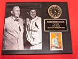 Hall of Famers Ty Cobb and Stan Musial Collectors Clock Plaque w/8x10 Photo and Card