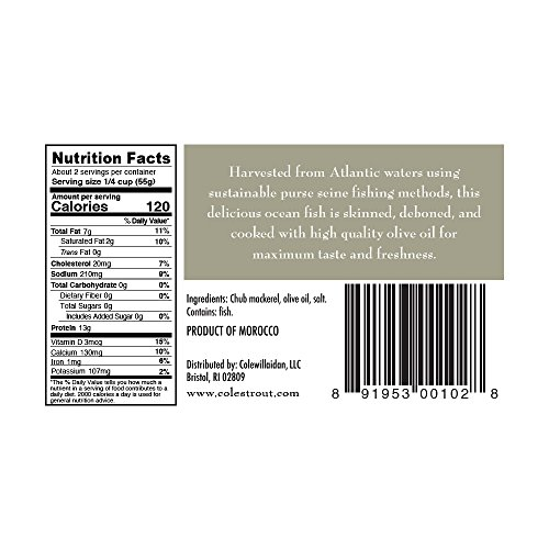 COLES MACKEREL OLIVE OIL, 4.4 OZ (pack of 10) by Coles (Image #1)