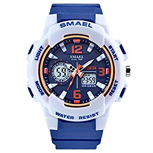 SMAEL Women's Sport Wrist Watch Quartz Dual Movement with Analog-Digital Display Watches for Women