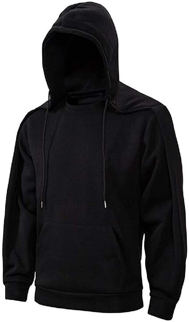 Fubotevic Men Pockets Gothic Basic Detachable Drawstring Hoodie Pullover Sweatshirt
