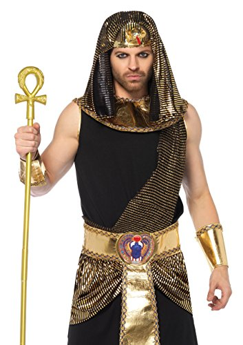 Egyptian Gods Costumes Halloween (Leg Avenue Women's 5PC.Egyptian God Costume, Black/Gold,)