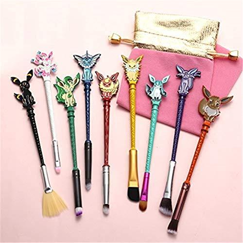 Dilla Beauty 9 Pieces Elf Treasure Dream Animation Game Multicolor Eyeshadow Eyebrow Blush Makeup Brush Set